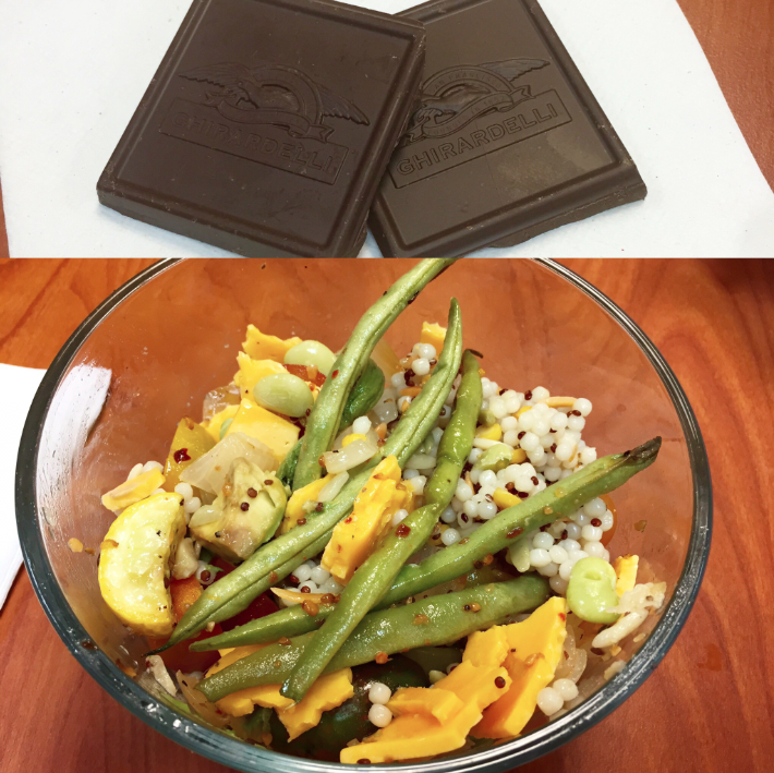 lunch bowl + chocolate
