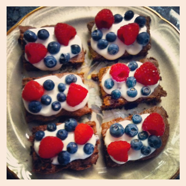 patriotic brownies
