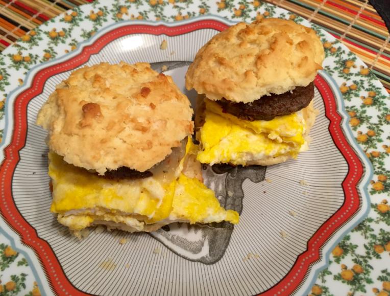 sausage egg scones
